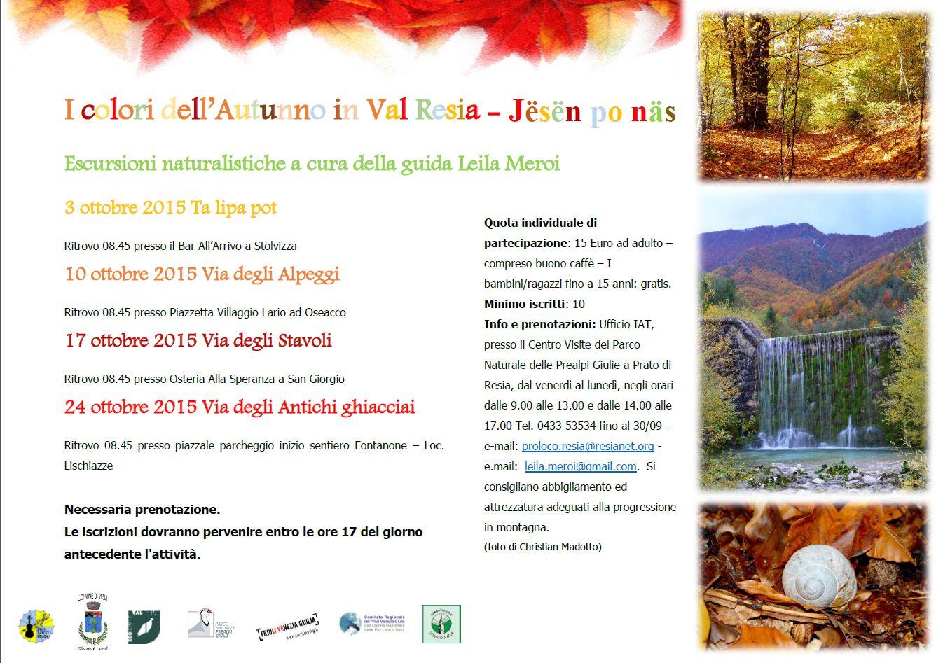 I colori dell'Autunno in Val Resia - Jesen po nas