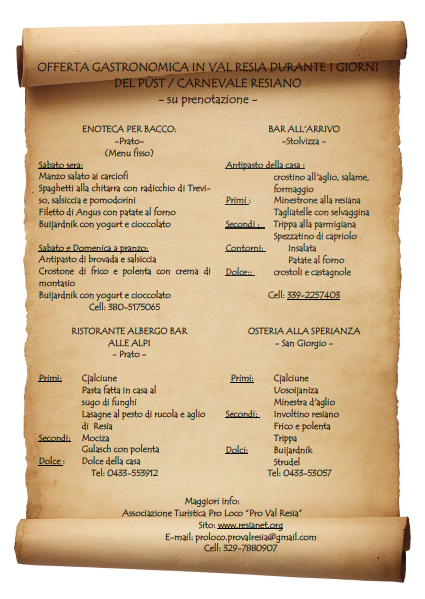 offerta gastronomica pust2016