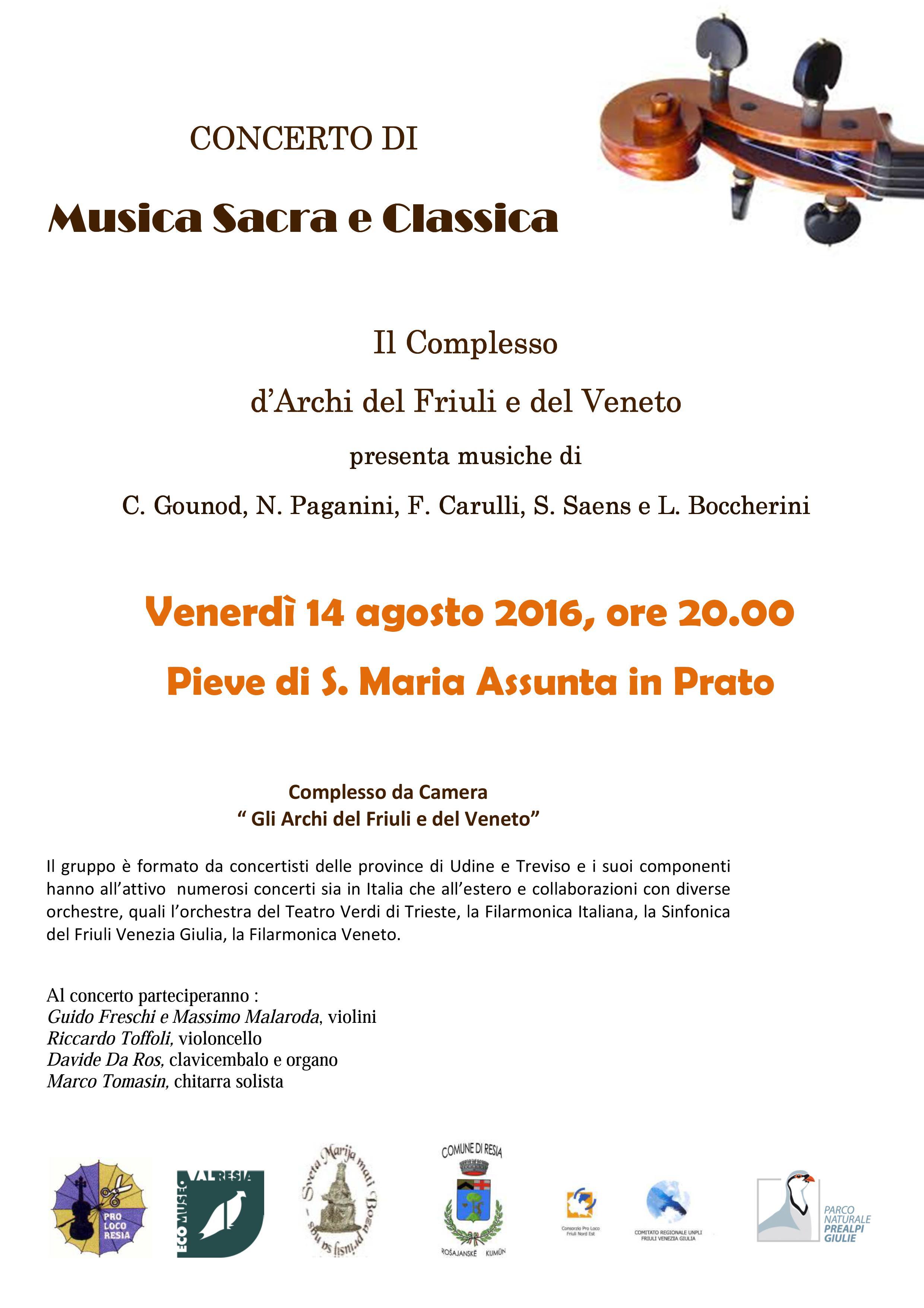 Concerto d'Archi 14.8.2016
