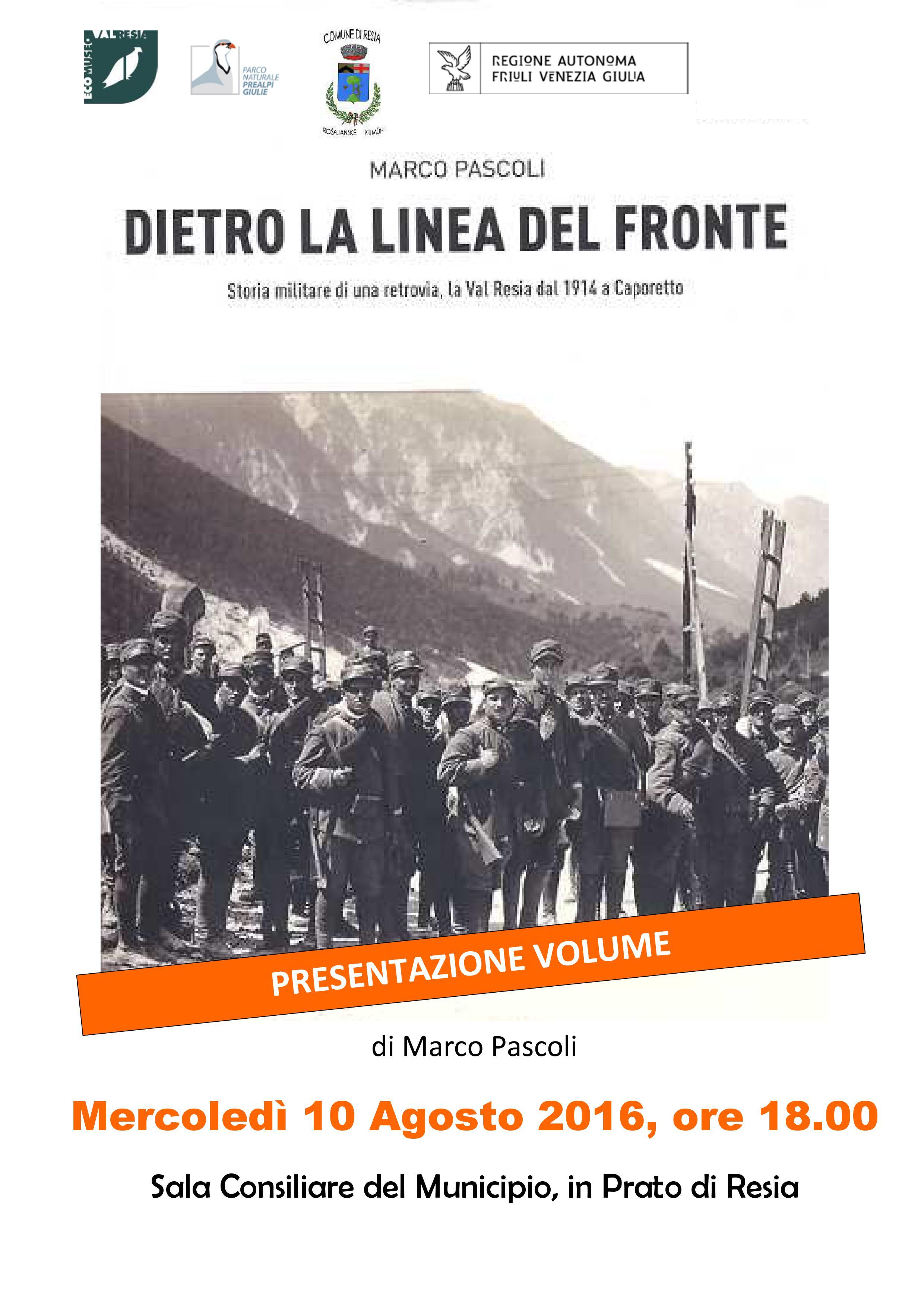 locandina presentazione libro pascoli dietro la linea del fronte