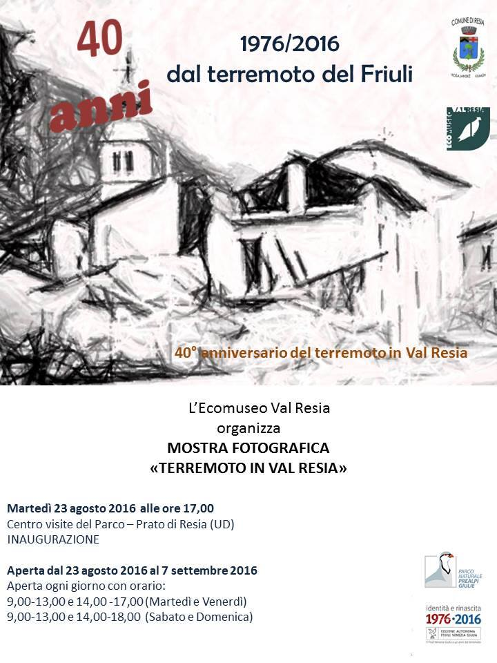 mostra terremoto in val resia - Parco