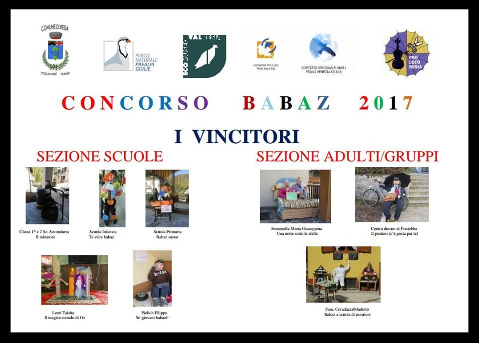 Vincitori concorso babaz 2017